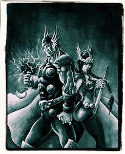 Thor y Sif